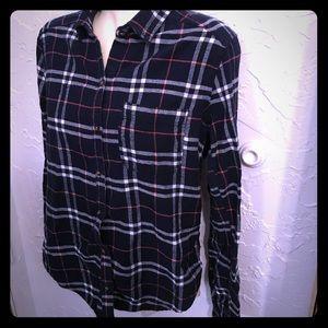 🍁Hollister Plaid Flannel, Size S